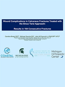 Research Presentation to Academy of Orthopedics on Wound Complications after Calcaneus Fracture Surgery